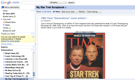 RSS Reader Screenshot